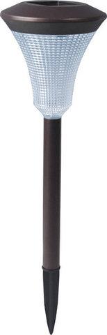Светильник садово-парковый на солнечной батарее, 1 белый LED, черный, PL247 (Feron)