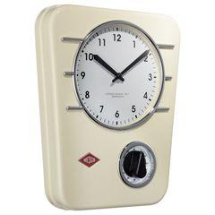 Часы настенные Wesco Classic Line кремовые