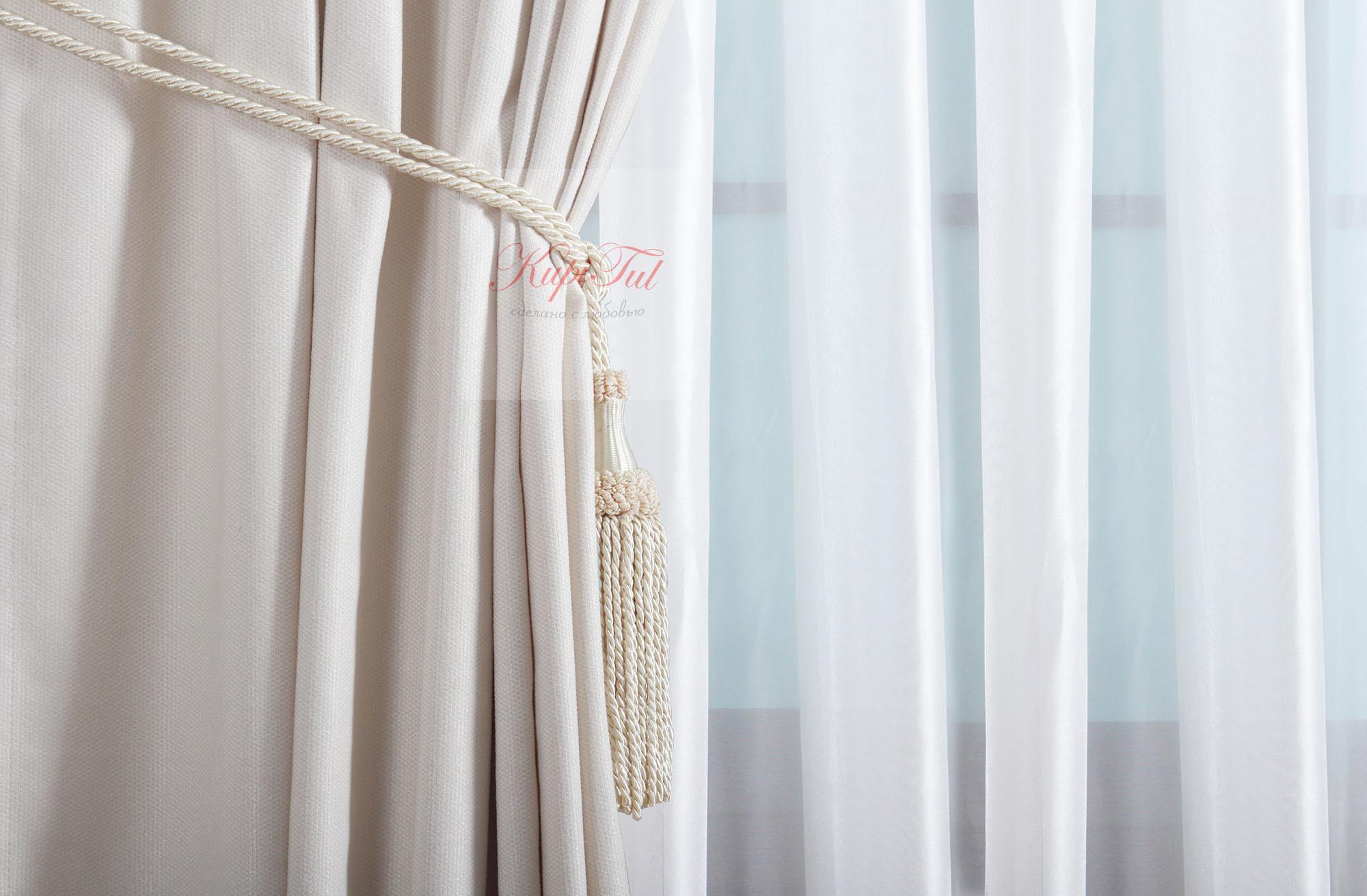 XL-комплект штор Ницца (молочный)