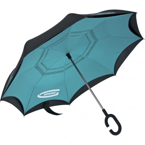 Зонт-трость обратного сложения, эргономичная рукоятка с покрытием Soft ToucH Gross