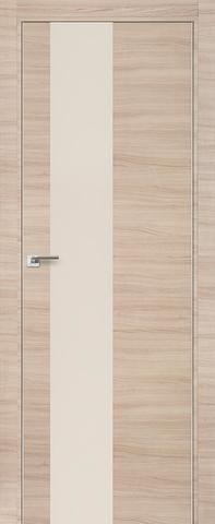 Дверь Profil Doors № 5 Z, стекло перламутровый лак, цвет капучино кроскут, остекленная