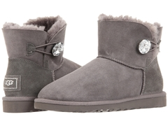 UGG Bailey Button Mini Bling Grey