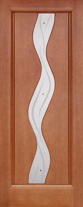 Дверь межкомнатная,Россич,Водолей ДО, Цвета: Анегри, Красное дерево