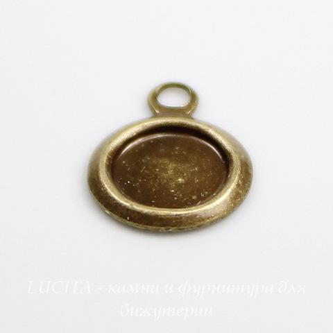Сеттинг - основа - подвеска для камеи или кабошона 5 мм (оксид латуни)