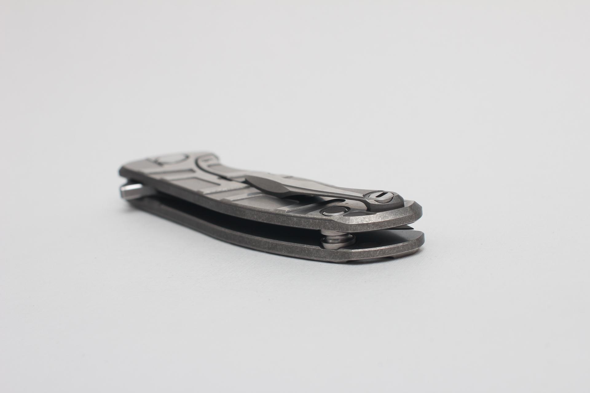 Нож Широгоров Flipper 95 S30V Т узор сатинирование подшипники