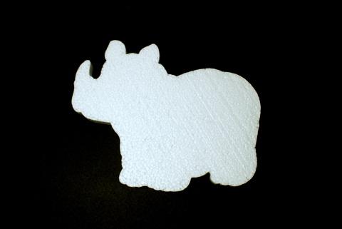 054-3235 Носорог из пенопласта, 15см