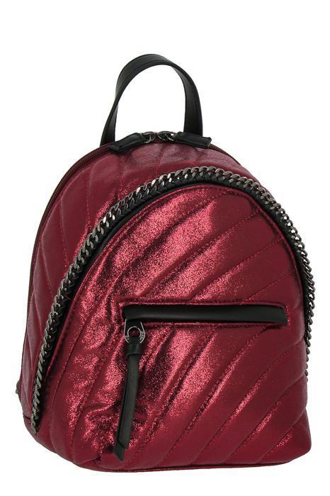 5834_3_DARK_RED Сумка-рюкзак, иск.кожа_ David_Jones