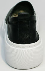 Слипоні женские Evromoda 457.024e White Black.