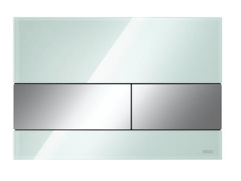 Стеклянная панель смыва унитаза TECEsquare для системы с двойным смывом