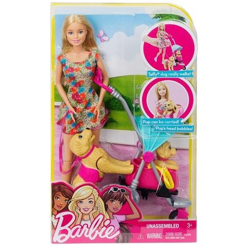 Барби Игровой Набор Прогулка с Щенками