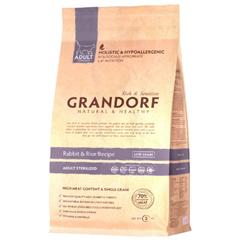 Grandorf Adult Sterilized Rabbit&Rice для стерилизованных кошек кролик с рисом