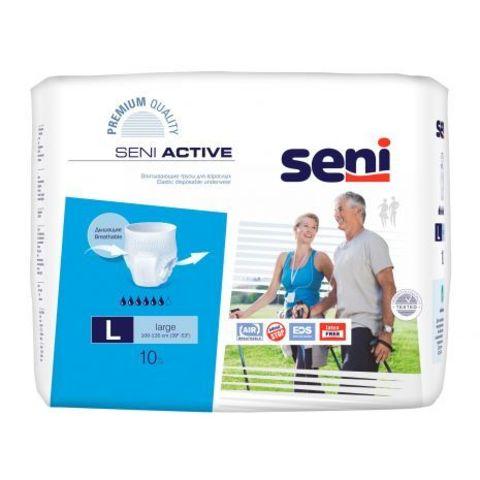 Впитывающие трусы Seni Active (Large) 10 шт. (100-135 см) , впит. 1800мл