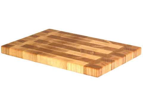 деревянная Торцевая разделочная доска 30х20х2 см ясень