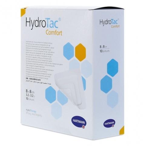 ГидроТак комфорт - HydroTac comfort, Самоклеящаяся губчатая повязка с гидрогелевым покрытием, 8х8 см