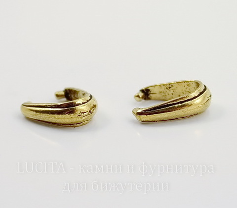"""Держатель для кулона TierraCast """"Nouveau"""" 12х8х4 мм (цвет-античное золото)"""