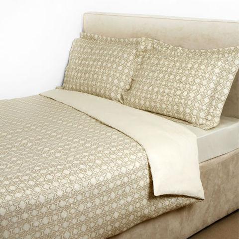 Постельное белье 2 спальное евро Roberto Cavalli Basic бежевое