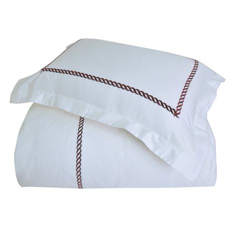 Постельное белье 2 спальное евро Casual Avenue Messina белое с темно-синим и красным