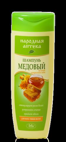 Iris Народная аптека Шампунь Медовый для всех типов волос 400мл