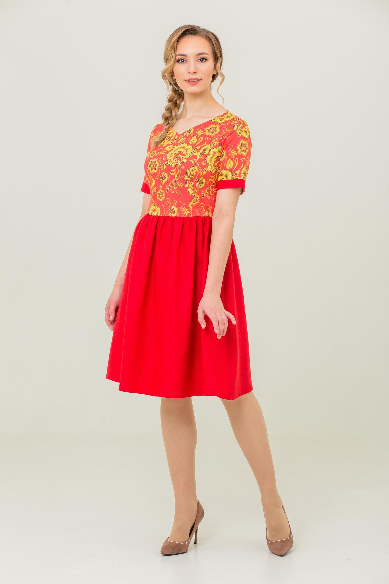 Платье Расписное в русском стиле