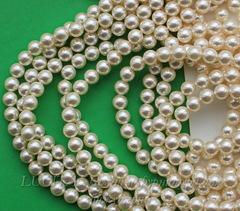 5810 Хрустальный жемчуг Сваровски Crystal Light Creamrose круглый 6 мм, 5 штук