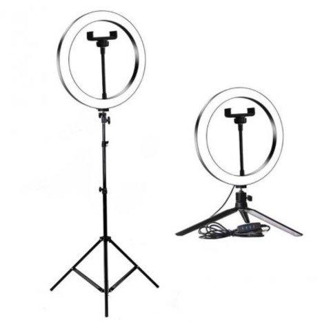 Светодиодная кольцевая лампа 36 см со штативом