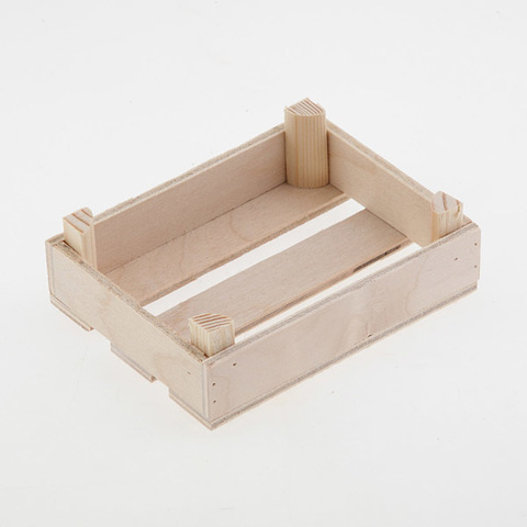 Ящик деревянный низкий, размер 10х7,5х3 см