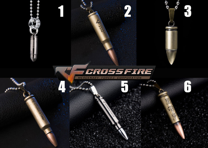 Cross Fire Pendant Necklace v1