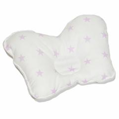 Farla. Подушка для новорожденного анатомическая Agoo Сиреневые звездочки