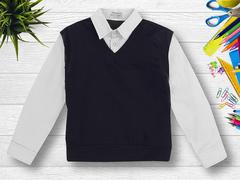 OP293Р рубашка для мальчиков, белая