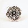 """Бусина металлическая (для шнура 12х8 мм) """"Цветок"""" 24х22х13 мм (цвет - античное серебро)"""