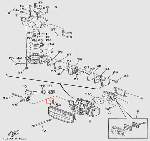 Глушитель  для лодочного мотора T3S SEA-PRO (4-41)