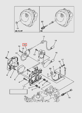 Катушка зажигания с в/п для лодочного мотора T40 Sea-PRO (9-10)