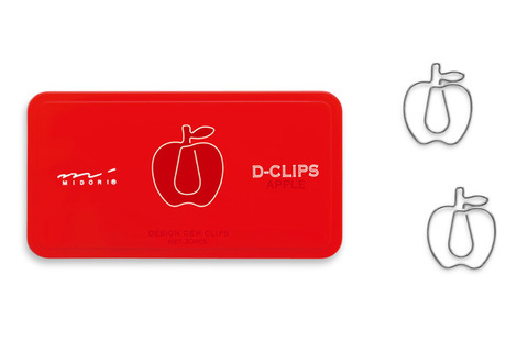 Скрепки Midori D-Clips Apple (30 шт.)