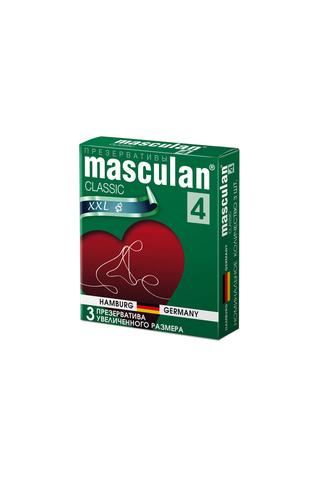 Презервативы Masculan Classic 4,  3 шт.  Увеличенного размера (XXL) розового цвета ШТ фото