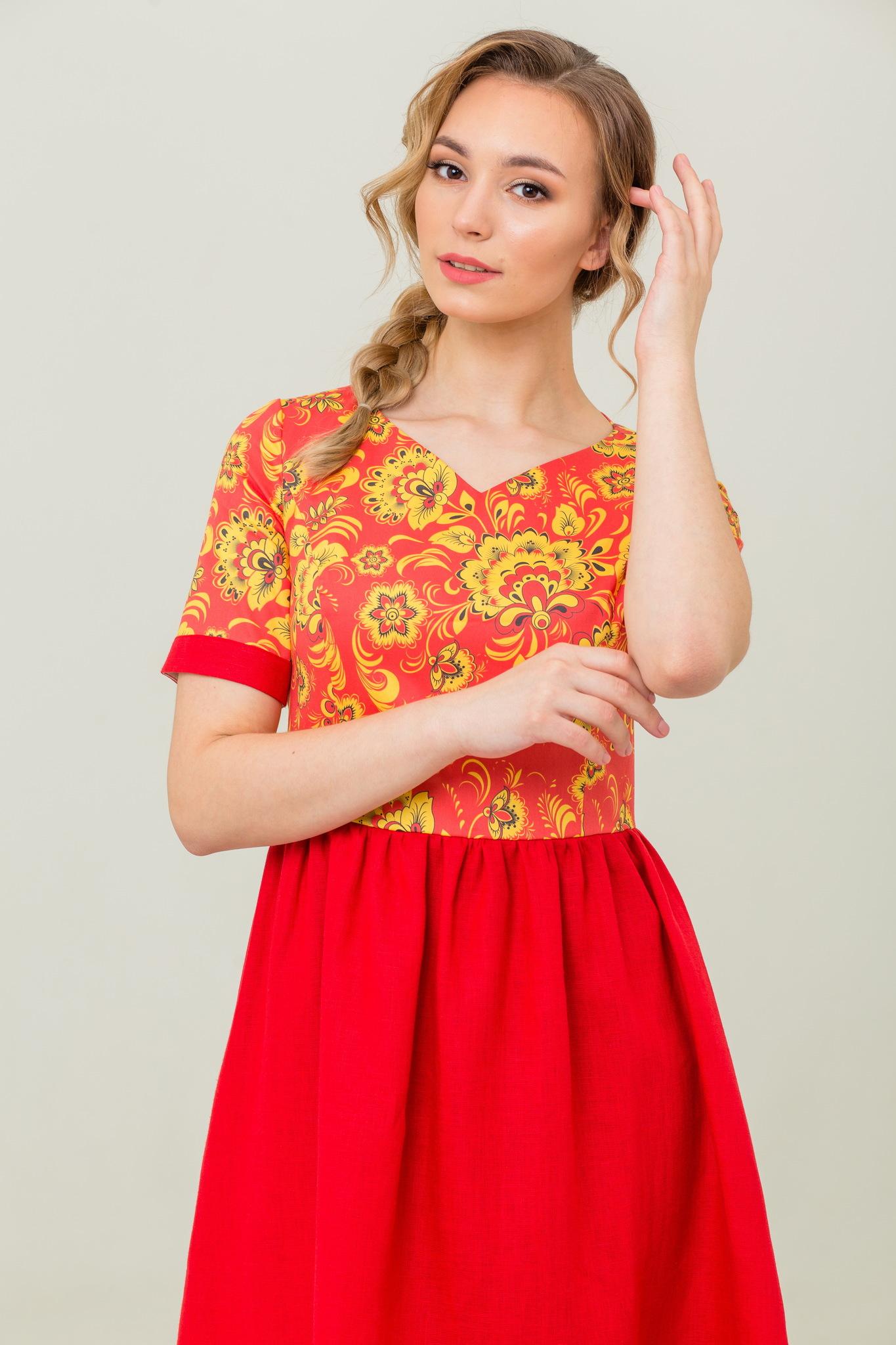 Платье в русском стиле Расписное купить