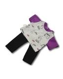 Трикотажный костюм - Сиреневый. Одежда для кукол, пупсов и мягких игрушек.