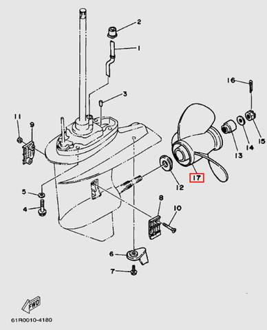 Винт гребной для лодочного мотора Т30 Sea-PRO (18-17)