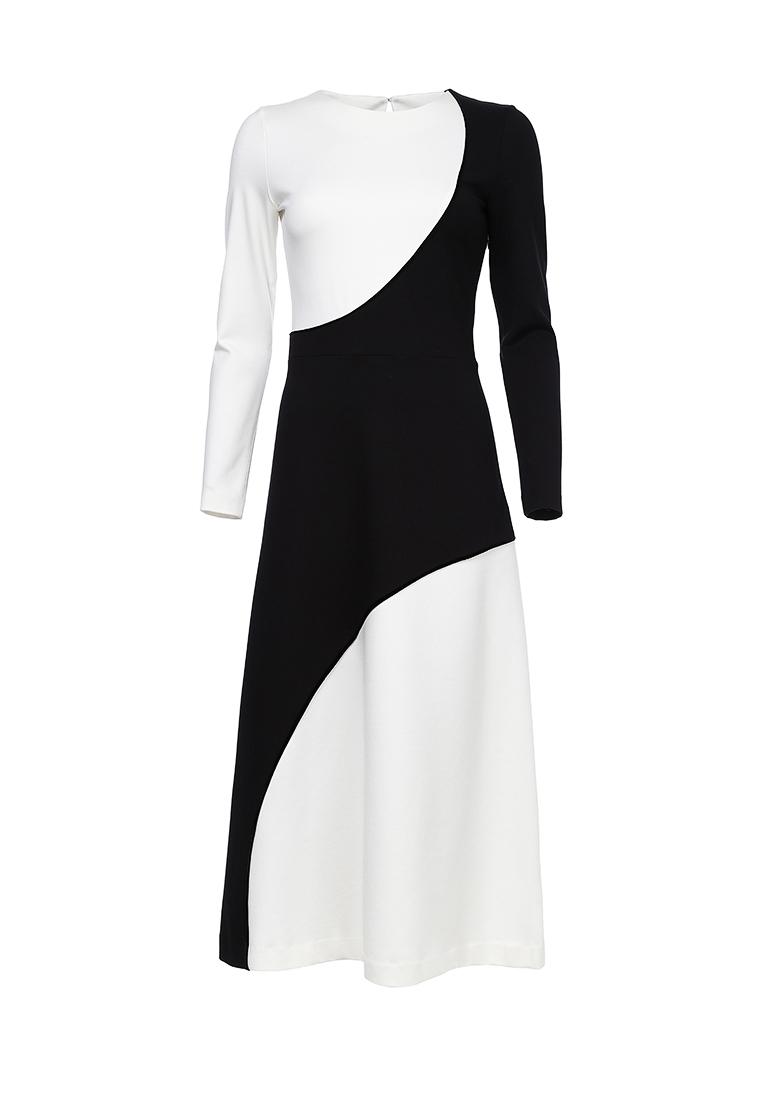 Платье черно-белое (FW0347)