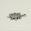 """Сеттинг - основа - подвеска """"Звезда"""" для камеи или кабошона 5,5 мм (оксид серебра)"""