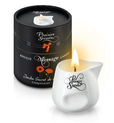 Массажные масла и свечи: Массажная свеча с ароматом мака Jardin Secret De Provence Coquelicot - 80 мл.