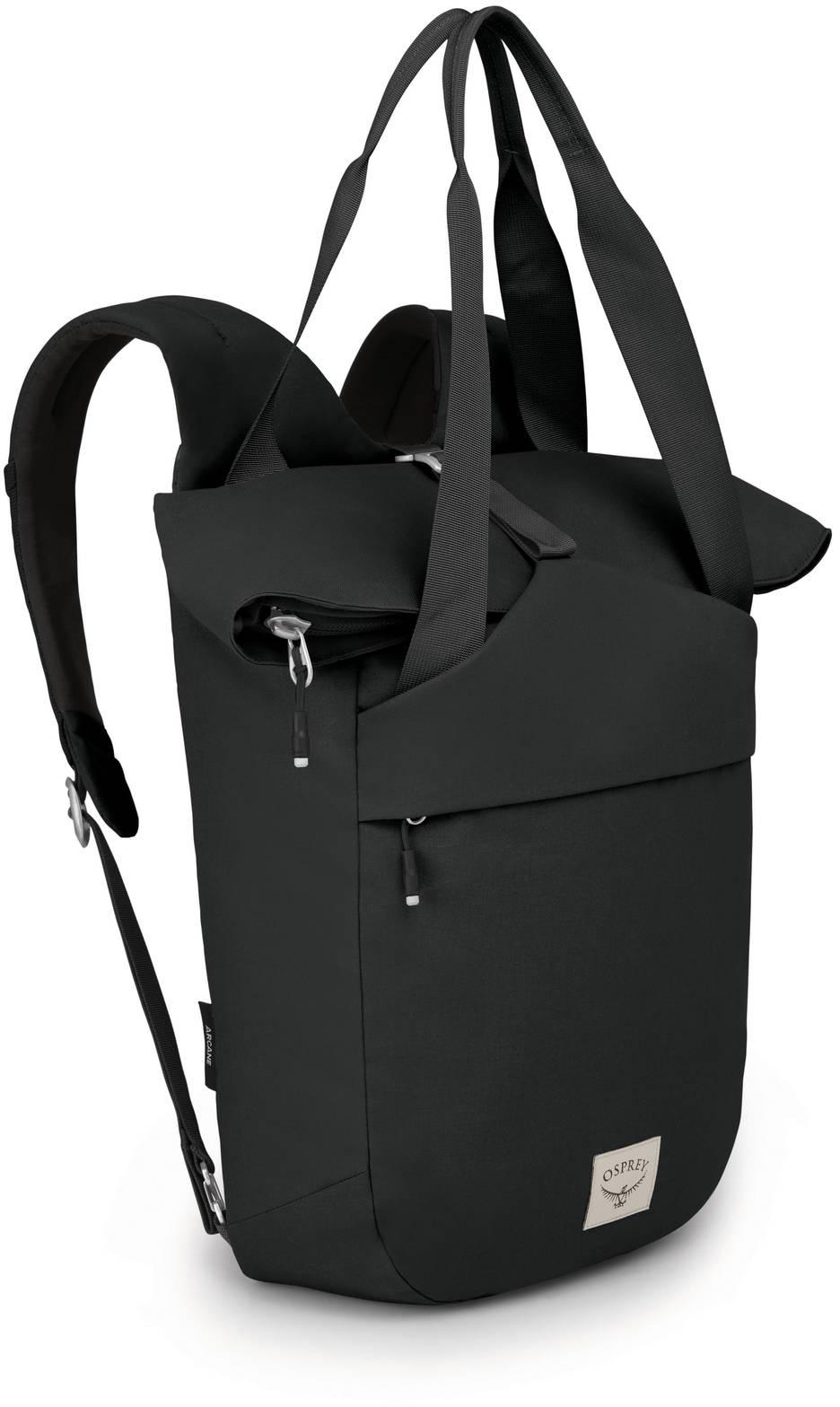 Городские рюкзаки Рюкзак сумка Osprey Arcane Tote Stonewash Black Arcane_Tote_Pack_S20_Side_Stonewash_Black_web.jpg