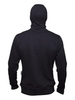 "Black insulated hoodie ""Ninja"" with a zipper"
