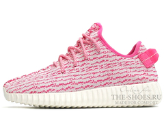 Кроссовки Женские Adidas Originals Yeezy 350 Boost Pink White