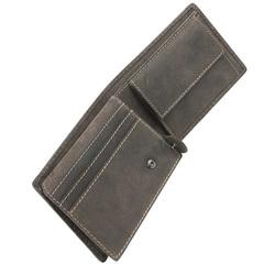 Портмоне WENGER Canvas Hunter, цвет коричневый, воловья кожа/ткань, 12,5×3×9,5 см