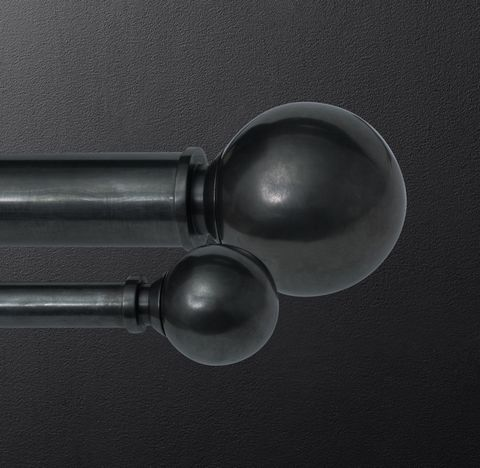 Bayonne Solid Brass Ball Finials (Set of 2) - Oil-Rubbed Bronze