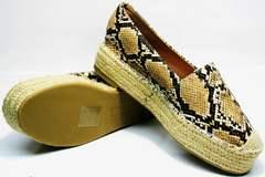 Женские туфли на низком ходу  Lily shoes Q38snake.