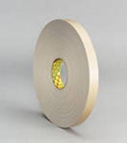 Скотч двусторонний 3М 4492W, белый, основа - вспененный полиэтилен, клей - акриловый, толщина - 0,8 мм