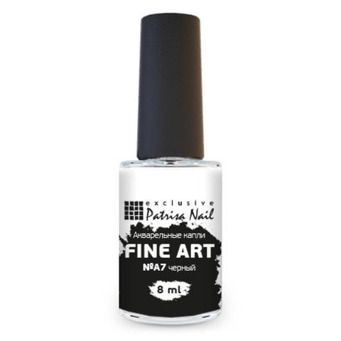 Patrisa Nail, Акварельные капли Fine Art №A7, цв.черный, 8 мл
