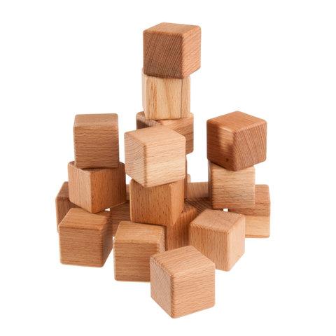 Кубики буковые, 20 шт.