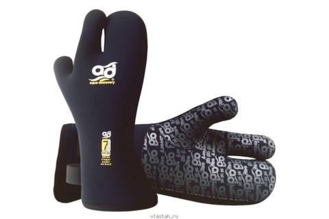 Перчатки AquaDiscovery Velcro трехпалые 7 мм